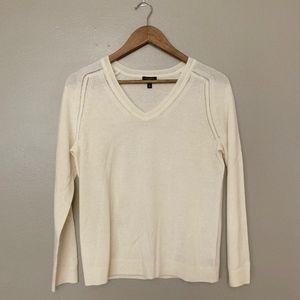 Talbots Cream Pure Cashmere V-Neck Sweater MP